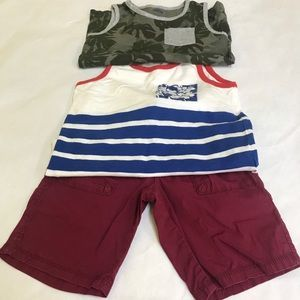 Baby Boy 2 Tank Tops and Short Bundle 5T
